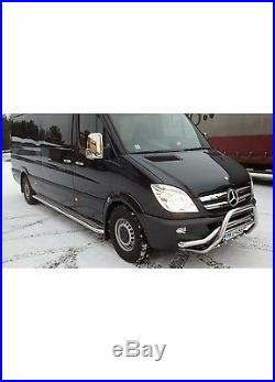 2 Marche Pied Plat Inox Mercedes Sprinter Vw Crafter 2006+ Chassis Moyen / L2