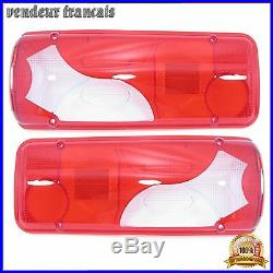 2 x CABOCHONS FEUX ARRIERES POUR MERCEDES SPRINTER VW CRAFTER PICKUP / CAB NEUF