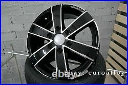 4x 16 inch 6x130 1250KG Mercedes Sprinter VW Crafter Noir Roues Noir
