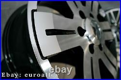 4x 16 inch 6x130 1400KG Mercedes Sprinter VW Crafter Noir Roues Noir
