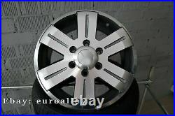 4x 16 inch 6x130 Mercedes Sprinter Jantes VW Crafter Gris Roues 1400KG Neuf