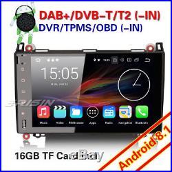 9DAB+Android 8.1 Autoradio Mercedes A/B Classe W245 Sprinter Viano Vito GPS TNT