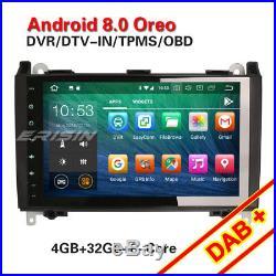 9Octa-Core DAB+ Android 8.0 Autoradio Mercedes A/B Class Sprinter Viano Vito 4G