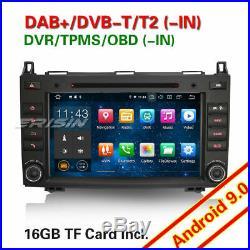 Android 9.0 Autoradio DAB+4G GPS Mercedes A/B Classe Sprinter Viano Vito Crafter