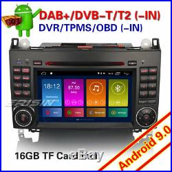 Android 9.0 Autoradio Mercedes A/B Classe B200 Sprinter Viano Vito Navi DAB+ TNT