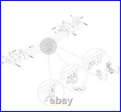 Attelage Bride Boule Fixe + 7p pour Mercedes Sprinter VW 23043/SF+VW107B1