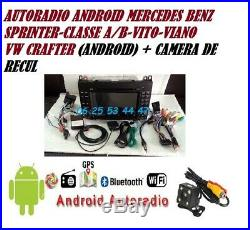 Autoradio Android GPS DVD CAMERA VW Crafter+MERCEDES VITO-VIANO-SPRINTER- A/B