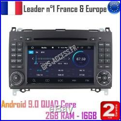 Autoradio GPS Android 9 Mercedes Classe A B Viano Vito Sprinter & VW CRAFTER