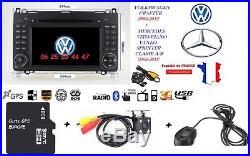 Autoradio GPS/DVD/BT MERCEDES BENZ A/B/SPRINTER-VIANO-VITO+ VW Crafter+ Caméra