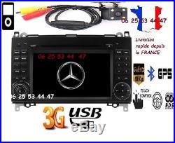 Autoradio GPS-DVD-BT Mercedes Classe A-B-VIANO-VITO-SPRINTER+ VW CRAFTER+ CAMERA