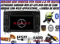Autoradio Gps Dvd Usb Android VW CRAFTER + MERCEDES SPRINTER-VITO-VIANO-A/B
