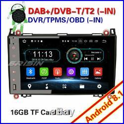 DAB+Android 8.1 Autoradio Mercedes A/B Classe W169 W245 Sprinter Viano Vito W639