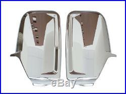 Mercedes Sprinter Vw Crafter 06- Chrome Couvre Coque Retroviseur Droit + Gauche