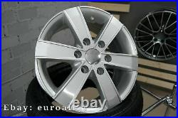 Neuf 4x 16 inch 6x130 Mercedes Sprinter Argent Roues VW Crafter Jantes 1250KG