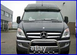 Pare Buffle Bullbar Inox Pour Mercedes Benz Sprinter De 2006-2013 Nouveau