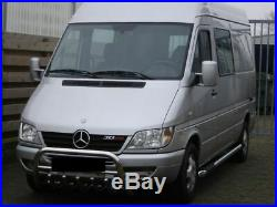 Pare Buffle Bullbar Protection Inox Pour Mercedes Sprinter Vw Crafter 2000-2006