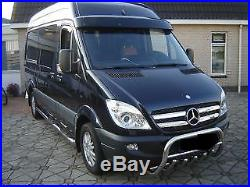 Pare Buffle Bullbar Protection Inox Pour Mercedes Sprinter Vw Crafter 2007-2013