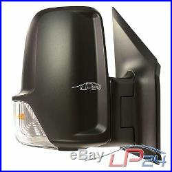 Rétroviseur Extérieur Côté Passager Noir Mercedes Benz Sprinter 4,6-t +5-t 906