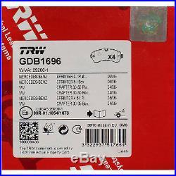TRW Plaquettes de Frein pour Disques Mercedes Sprinter VW Crafter Gdb1696