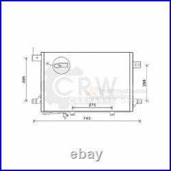 Van wezel Condensateur Climatisation Pour Mercedes-Benz Sprinter 3-T Boîte 209